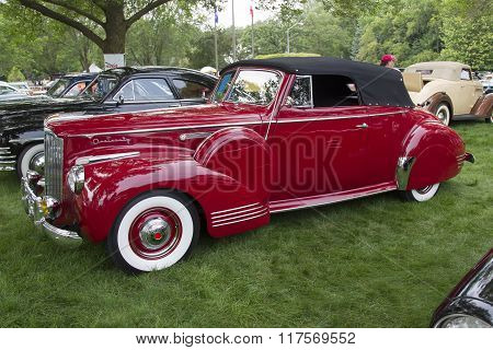 1941 Packard Red Car Side View