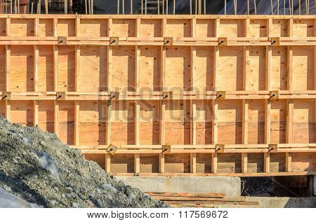 Fragment of a new home under construction in Vancouver, Canada.