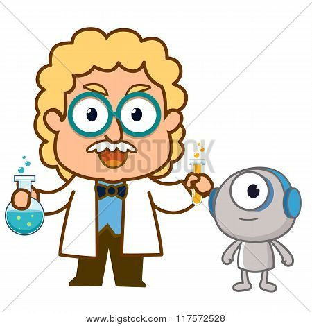 scientist and robot