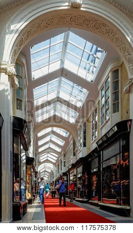 LONDON, UK - CIRCA MAY 2012: The Burlington Arcade in Mayfair is a covered shopping arcade.