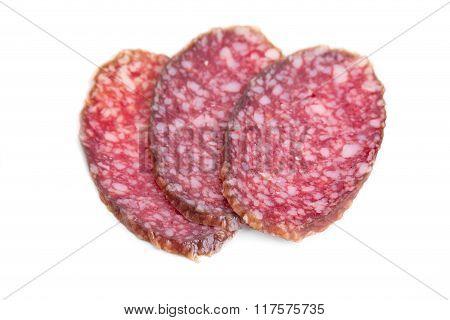 Delicious italian air-dried salami.