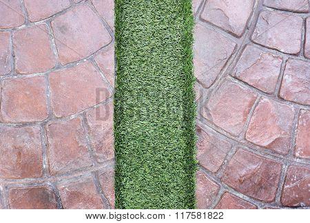 Artificial Grass On Ston Floor