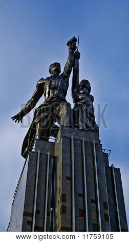 Monument of the Worker and Collective Farmer. Moscow. Russia.