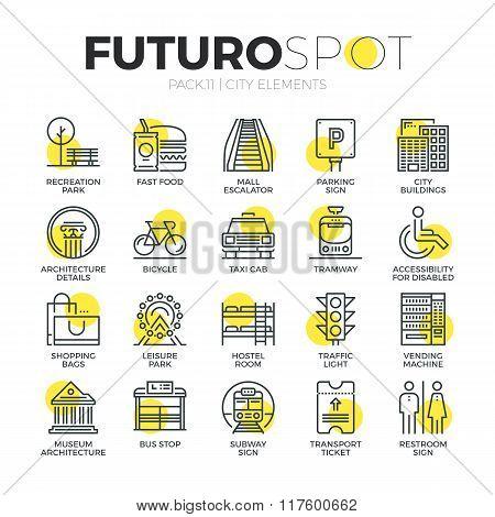 City Objects Futuro Spot Icons