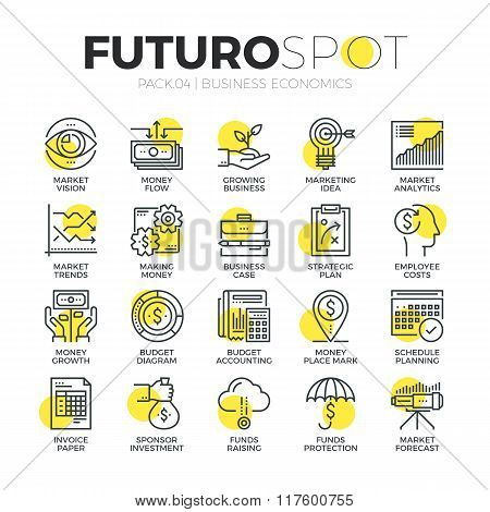 Finance Business Futuro Spot Icons
