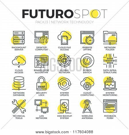 Cloud Network Futuro Spot Icons