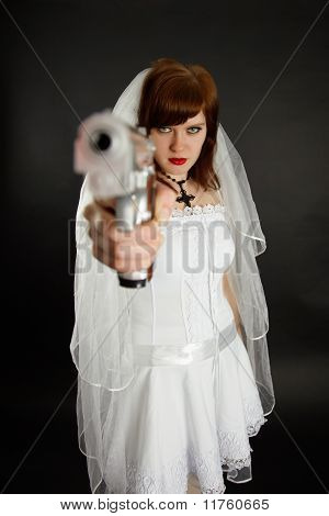 Young Bride Threatens Us With A Gun
