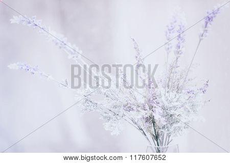 Soft purple vintage florals