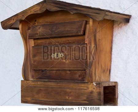 Original Wooden Mailbox