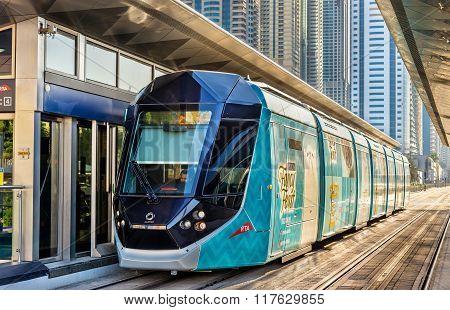 Alstom Citadis 402 Tram In Dubai, Uae