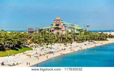 View Of Aquaventure Waterpark On Palm Jumeira Island, Dubai