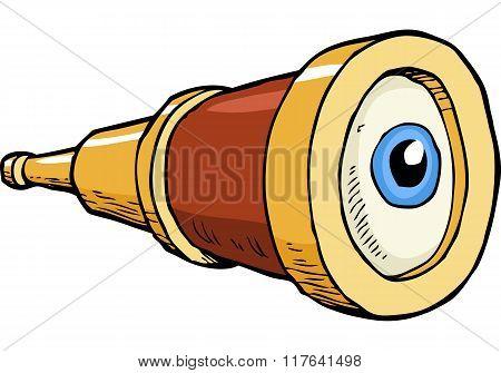 Spyglass With Eye