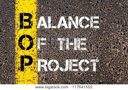 Business Acronym Bop Balance Of The Project