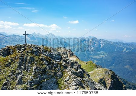 Cross On The Top Of The Peak