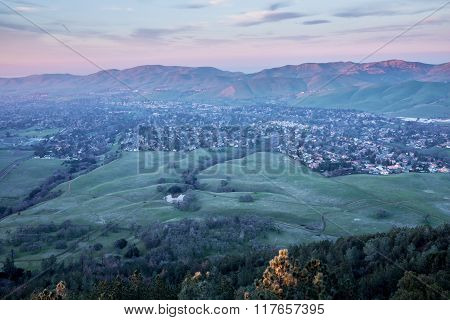 Sunset at Mt. Diablo State Park, Contra Costa County, California
