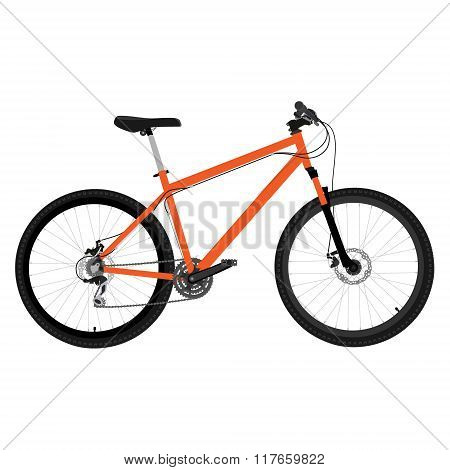 Orange Bicycle Vector
