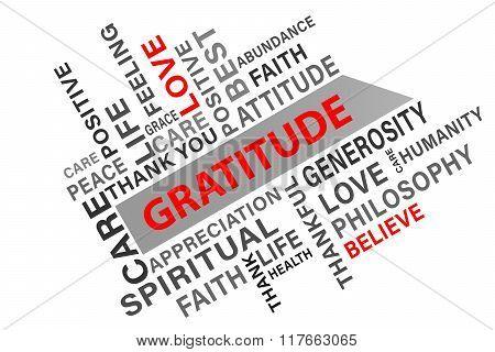 Gratitude word cloud concept