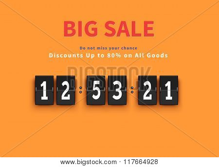 Opening Soon. Big Sale Countdown