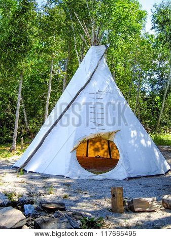 Tepee In The Forest