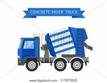 Building under construction cement mixer machine
