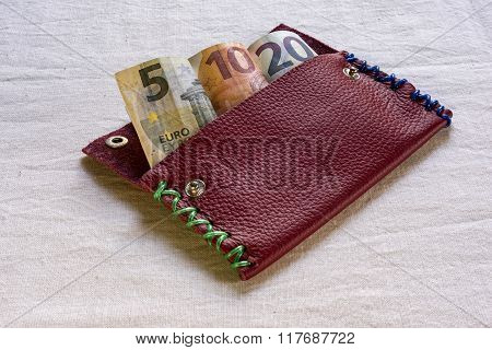 Euro Banknotes In A Wallet