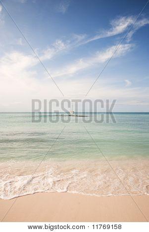 Beach and Ocean in the Caribbean
