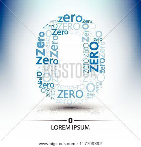 character sort for number zero logo vector future technology design