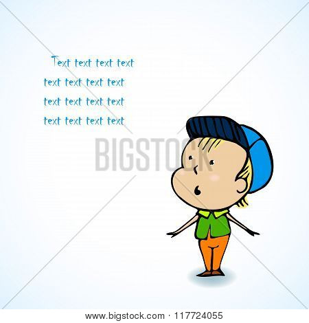 Cute Boy - Vector Character Cartoon Illustration
