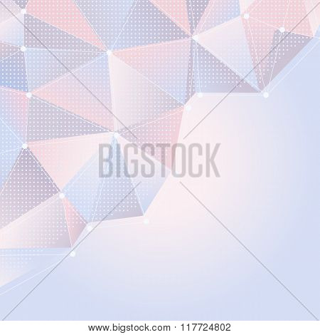 Abstract Light Rose And Blue Background