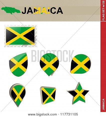 Jamaica Flag Set, Flag Set #128
