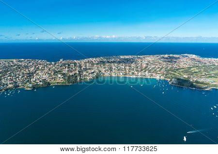Aerial View Of Watsons Bay And Tasman Sea