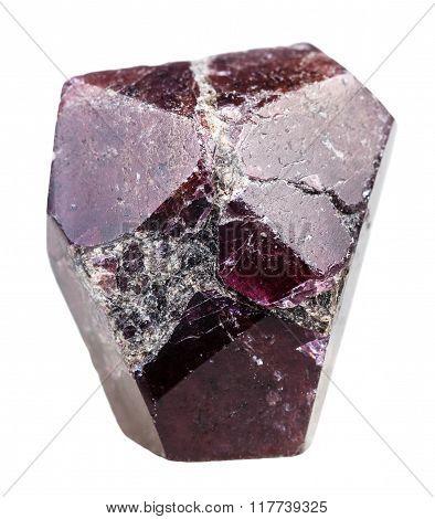 Crystal Of Garnet (almandine) Rock Isolated