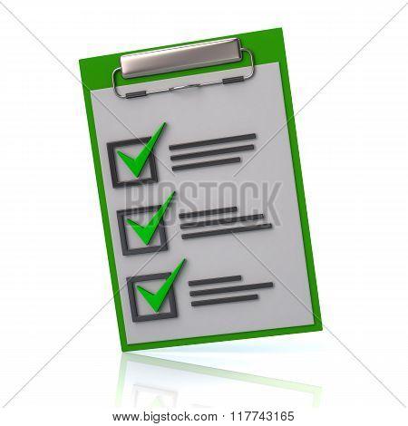 Illustration Of Green Check List