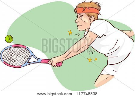 Vector Illustration Of A Tennis Elbow