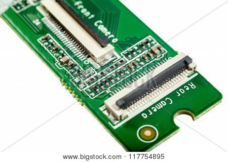 Circuit Board Isolated On White, Smt
