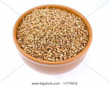 Plate Of Crude Buckwheat