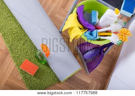 Carpet Cleaning Concept.