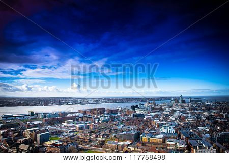 A view of the city of Liverpool