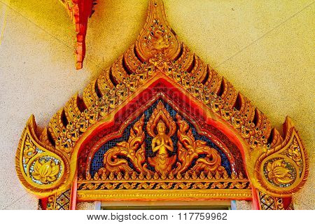 Kho Samui Bangkok In Thailand Incision Of The Buddha Gold