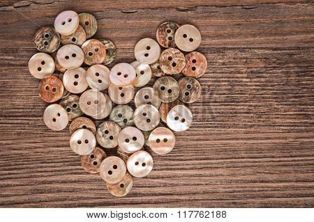 Valentine Heart Buttons Textiles