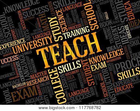 Teach Word Cloud