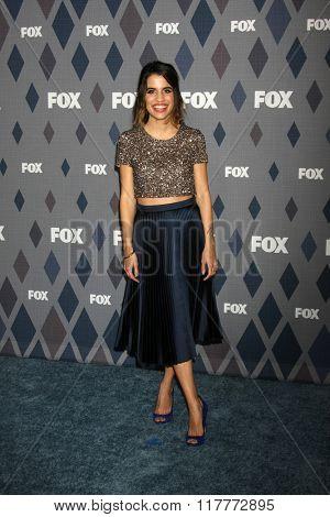 LOS ANGELES - JAN 15:  Natalie Morales at the FOX Winter TCA 2016 All-Star Party at the Langham Huntington Hotel on January 15, 2016 in Pasadena, CA