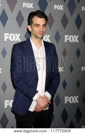 LOS ANGELES - JAN 15:  Jay Baruchel at the FOX Winter TCA 2016 All-Star Party at the Langham Huntington Hotel on January 15, 2016 in Pasadena, CA