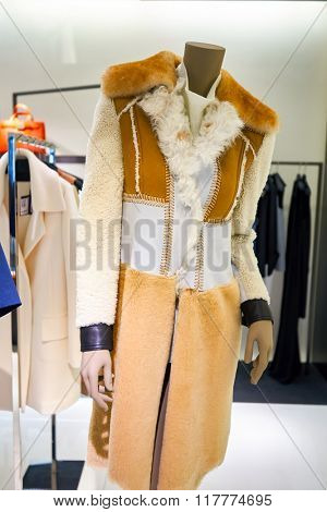 HONG KONG - JANUARY 26, 2016: goods at Calvin Klein store in Hong Kong. Calvin Klein Inc. is an American fashion house founded by the fashion designer Calvin Klein