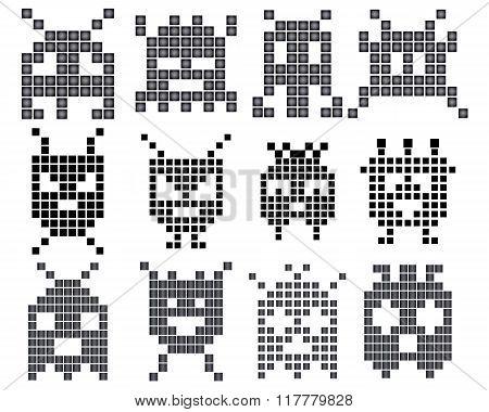 Different Sets Of Pixels