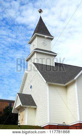 Cross Finial On Church