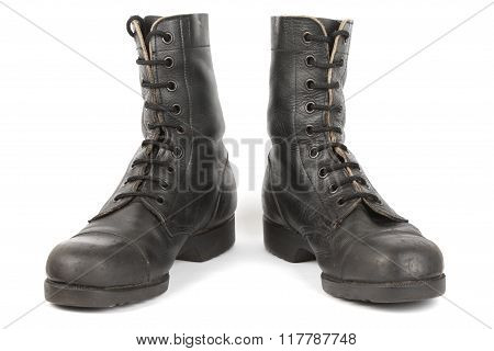 Israeli Army Boots, Isolated