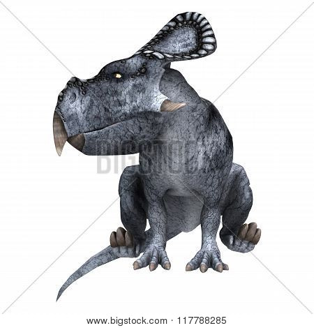 Dinosaur Protoceratops On White