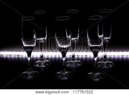 Wine Glasses With Light