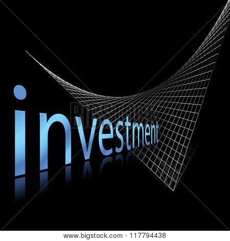 Business concept - investment and finance template with grid